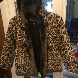 Rothschild 6 new leopard print girls coat